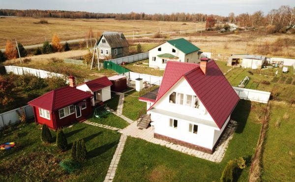 Капитальный бревенчатый дом с сауной в д.Тимково (105 км от МКАД)